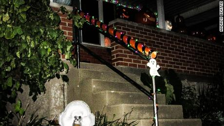 "Andrew Beattie has created a ""candy chute"" to provide social distance for trick-or-treaters."