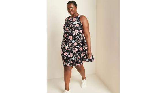 Sleeveless Plus Size Jersey Swing Dress