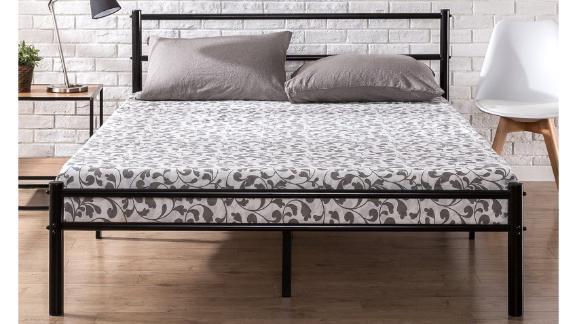 Zinus Geraldine Black Metal Platform Bed Frame