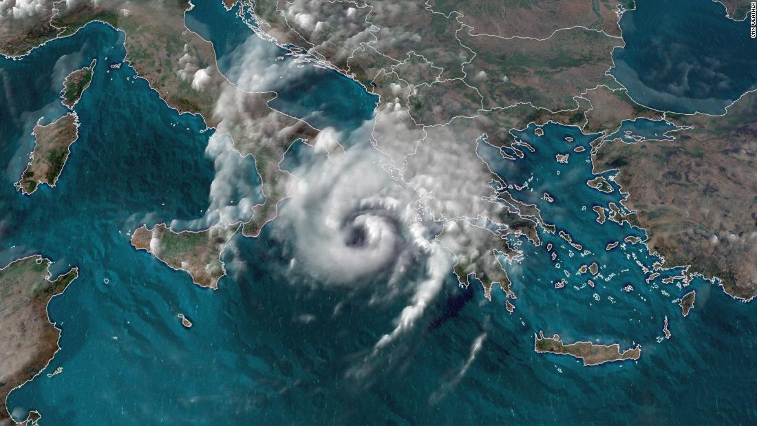 'Medicane,' a rare, hurricane-like storm in the Mediterranean, to hit Greece