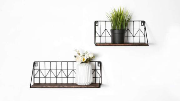 Mkono Wall Floating Shelves, Set of 2