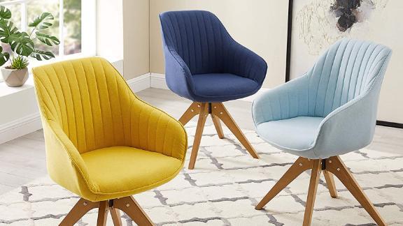 Art Leon Midcentury Modern Swivel Accent Chair