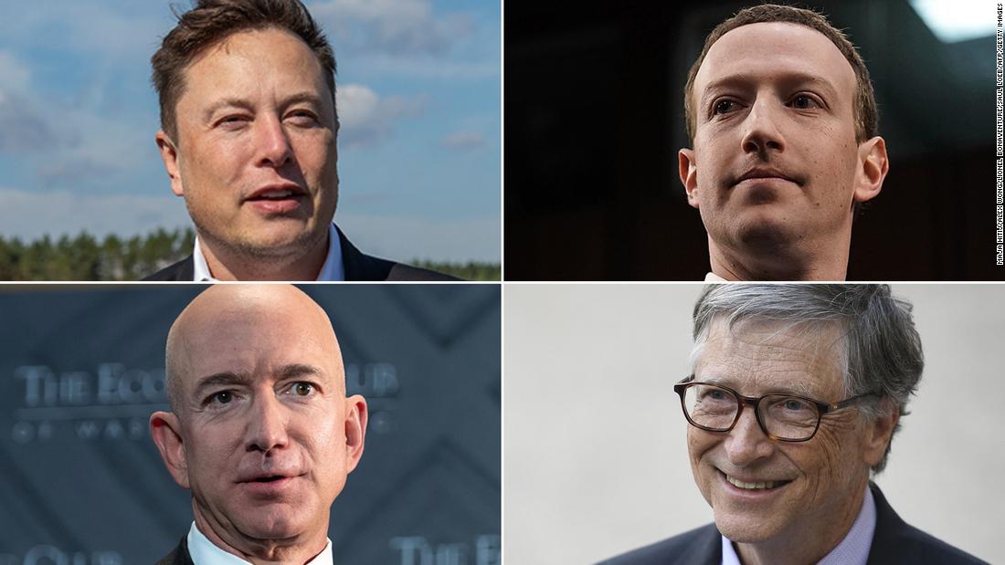 US billionaires' fortunes have skyrocketed $845 billion since March