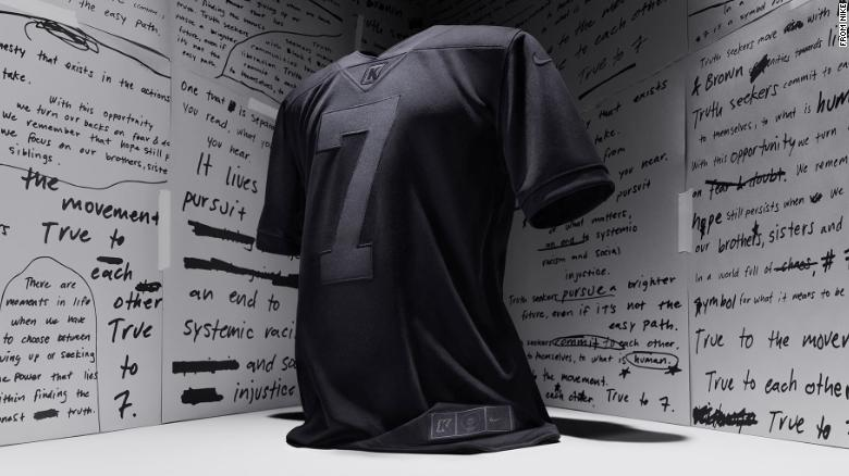 Nike's all-black Colin Kaepernick jersey marking 4 years since he took a knee sells out in less than a minute