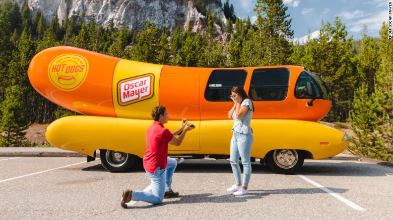 Thinking about popping the question? Let the Oscar Mayer Wienermobile help you out