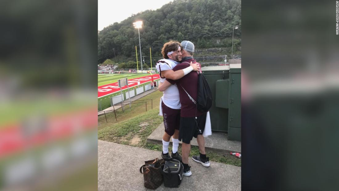 Nurse arranges for a plane to fly a dying father to see his son play football one last time