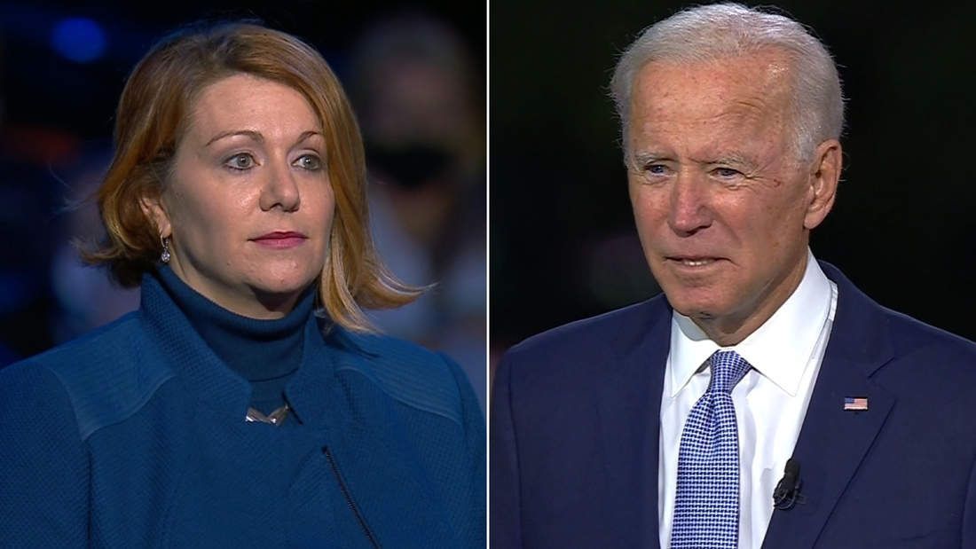 Trump voter to Joe Biden: Excuse me, if I could finish ...