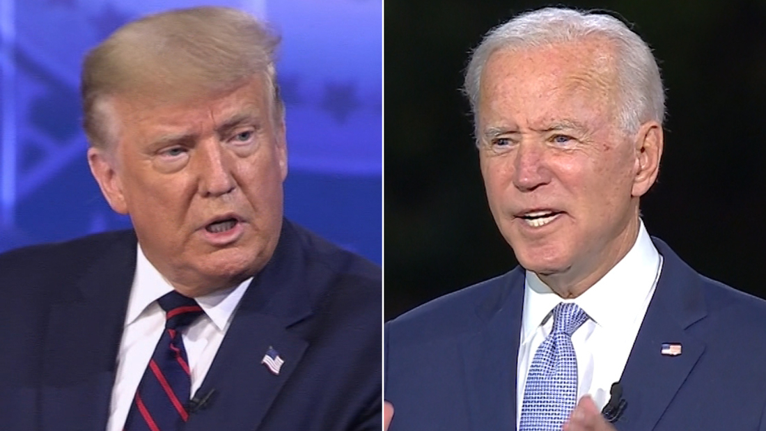 What Trump and Biden said when asked similar questions