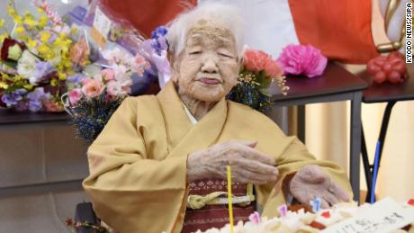 Japan's oldest person, 117-year-old Kane Tanaka, said the secret to a long life is eating good food and studying math.