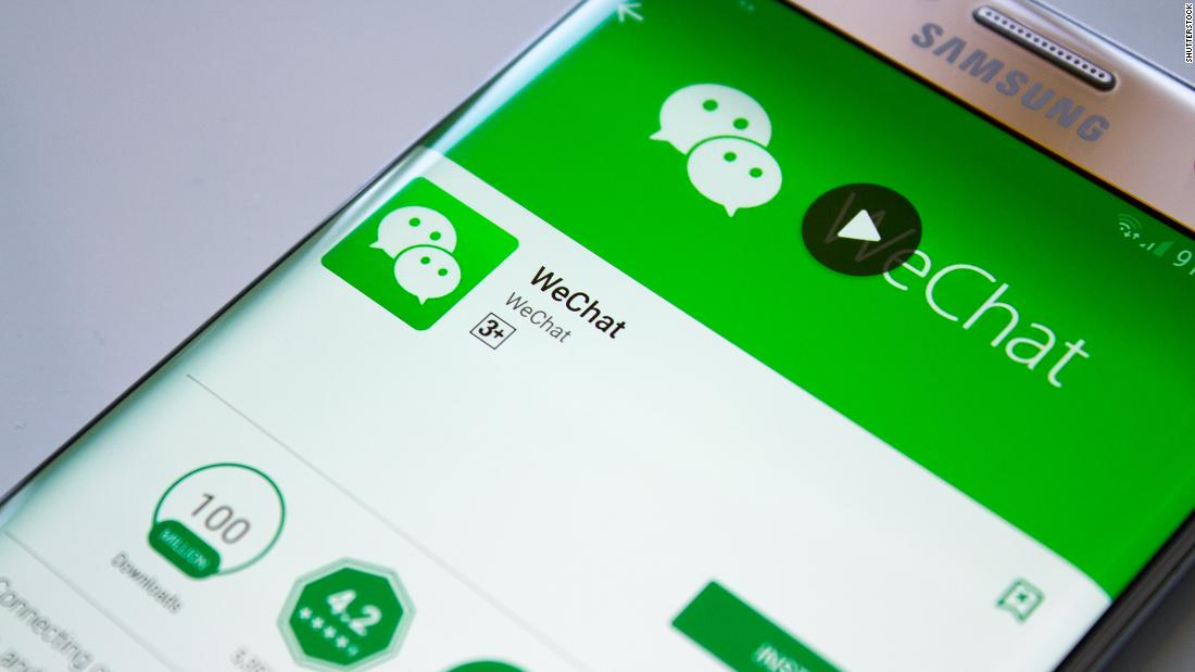 What happens to WeChat on Sunday?