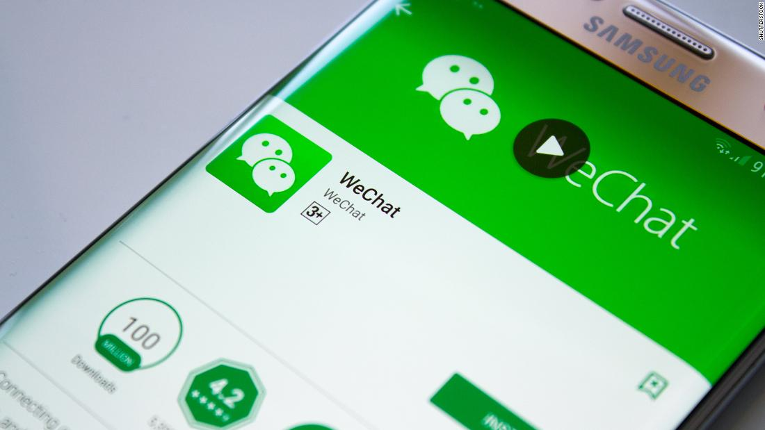 What happens to WeChat on Sunday