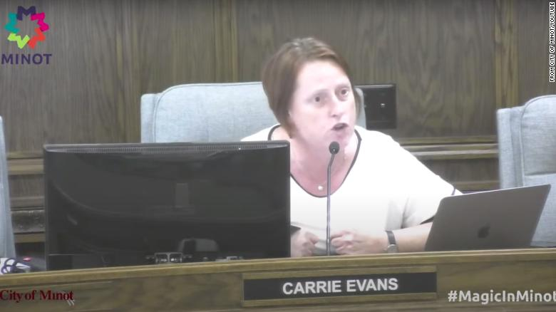 A city council member in North Dakota declares she's a proud lesbian during a heated debate over flying the Pride flag
