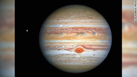 Hubble is spying on Jupiter's stormy weather