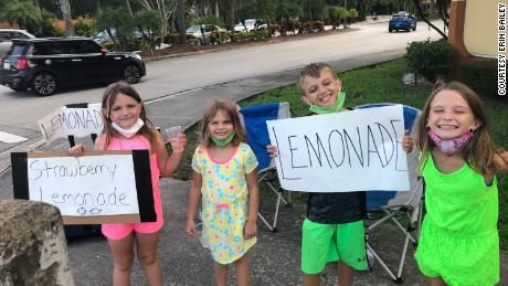 She lost her business to a coronavirus.  She now supports her four children by managing their lemonade stand
