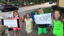 She lost her business due to coronavirus. Now she's supporting her four children by running their lemonade stand
