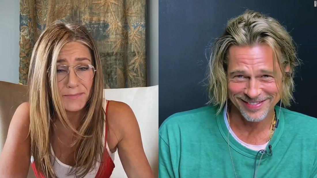 Brad Pitt and Jennifer Aniston recreate steamy movie scene