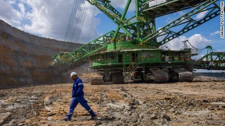 Mỏ than non Turów ở Tây Nam Ba Lan vào năm 2020.