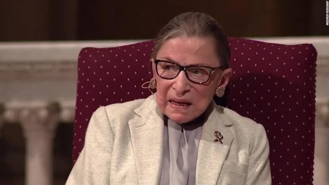 Hear RBG's most memorable speeches