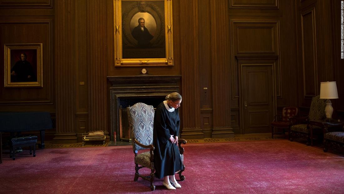 Ginsburg celebrates her 20th anniversary on the bench in Washington, on Friday, August 30, 2013.
