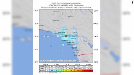 A 4.5 magnitude earthquake shakes southern California