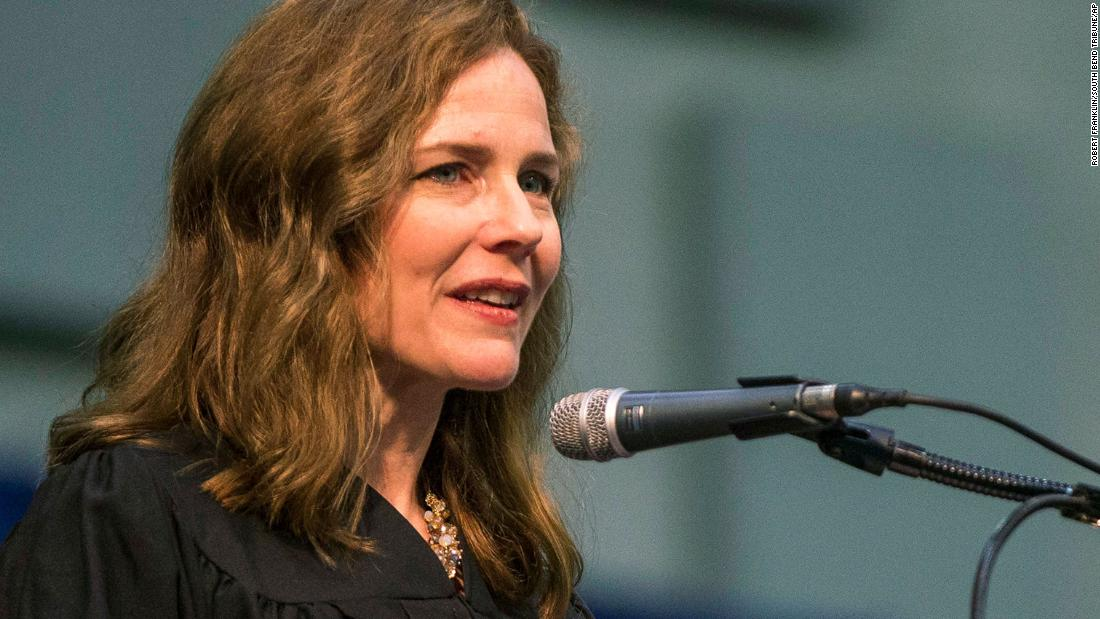 Amy Coney Barrett is Trump's intended choice for Supreme Court vacancy, sources say