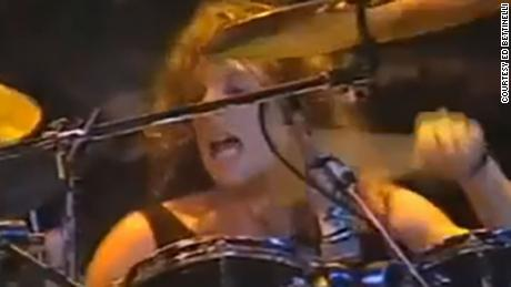 Here is Ed Bettintelli drumming at the Cat Club in New York City in the late '80s.