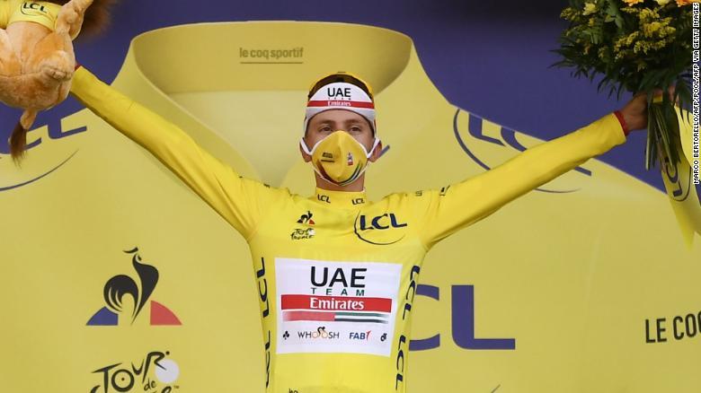Slovenia's Tadej Pogacar stuns compatriot Primoz Roglic to lead Tour de France