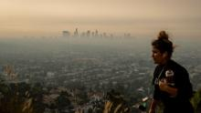 Smoke from several Southern California wildfires spread to the Los Angeles area on Thursday.