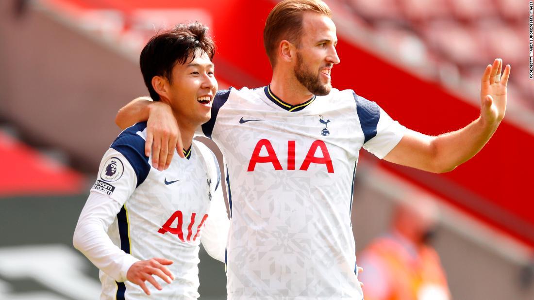 Son Heung-min sends out message with four goals as Spurs rout Saints