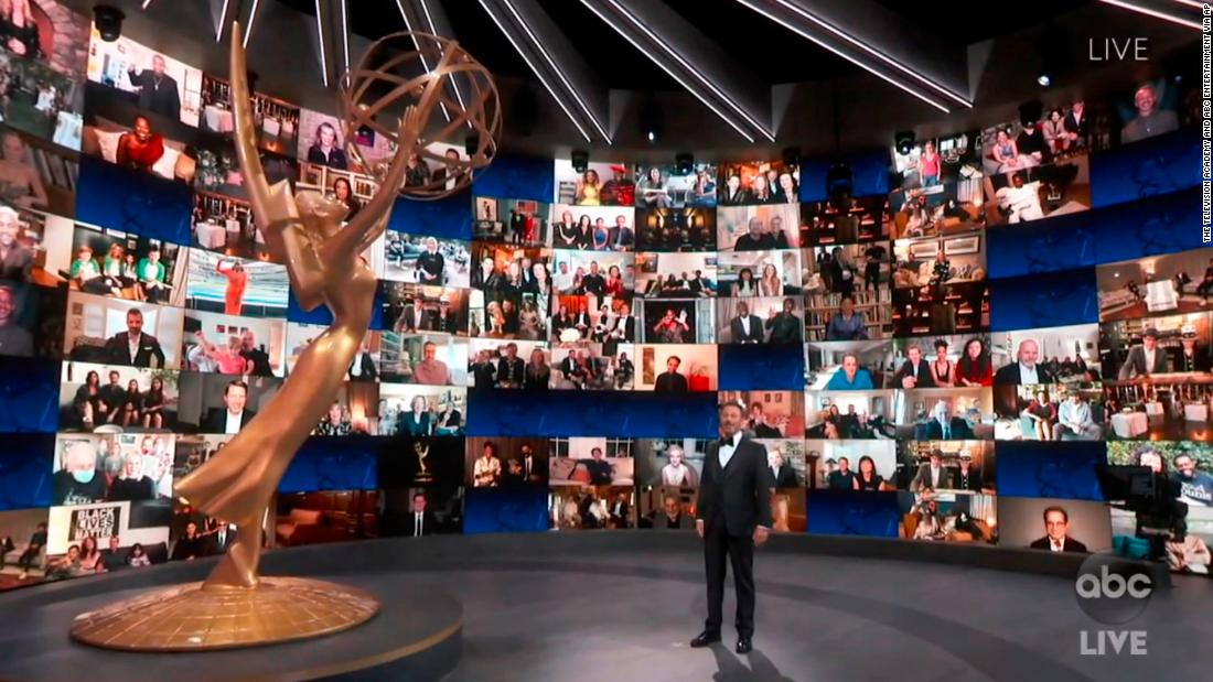 Emmys 2020: Jimmy Kimmel kicks off an audience-free awards, as 'Schitt's Creek' shines in comedy