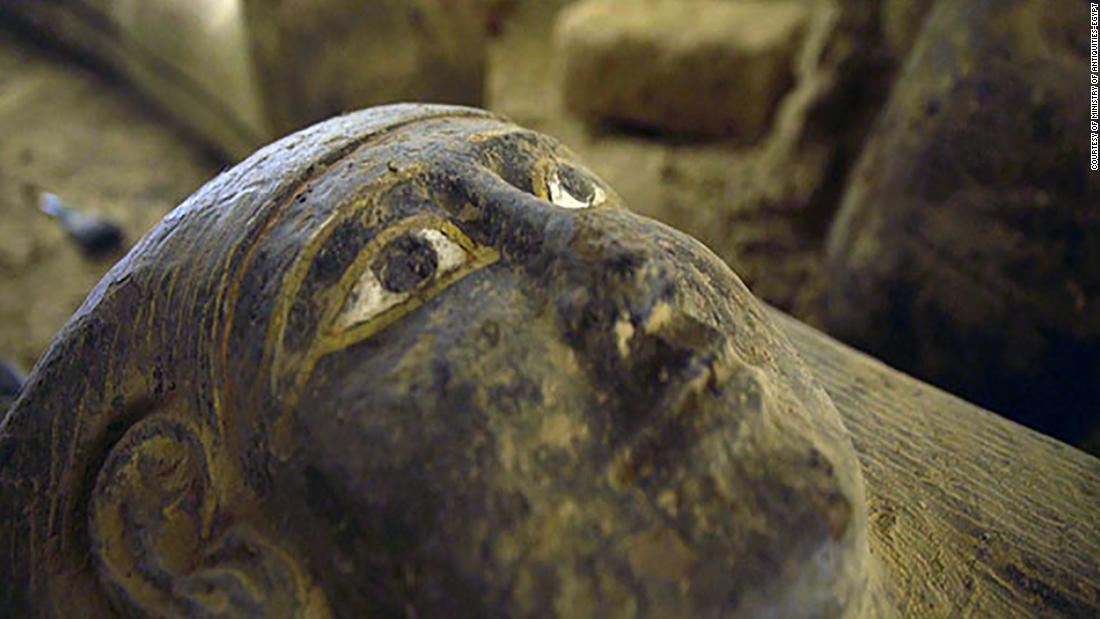 Egyptian tomb in Saqqara necropolis found to contain huge cache of sealed sarcophagi
