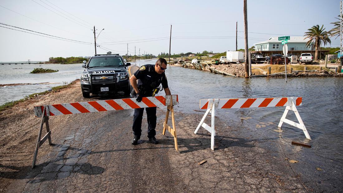 Storm surge and debris already present along Gulf Coast as Tropical Storm Beta takes aim at Texas