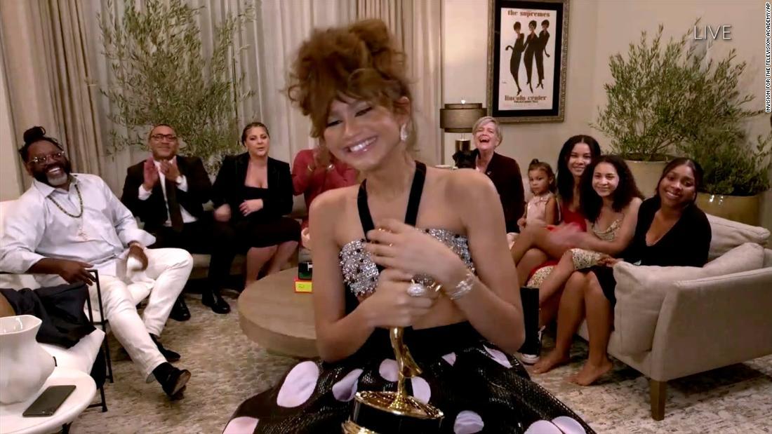 Zendaya shines on an unprecedented Emmys night – CNN