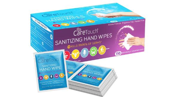 Care Touch Hand Sanitizing Wipes, 110-Pack