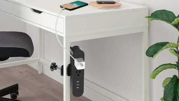 Jgstkcity Desk Clamp Power Strip With USB Ports