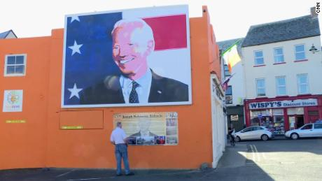 A mural of Biden in Ballina, Ireland.