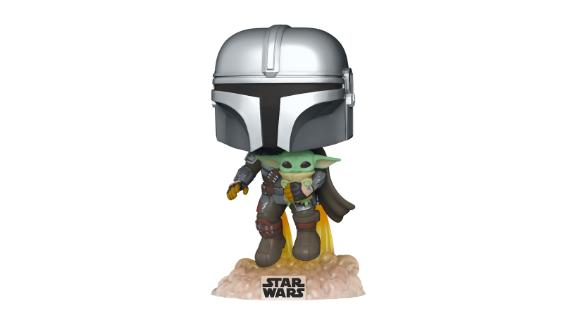 Pop! Star Wars: The Mandalorian 10-Inch Chrome Mandalorian With The Child Vinyl Figure