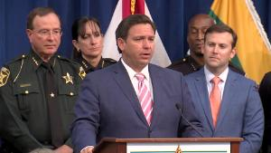 """Gov. Ron DeSantis announces what he calls """"boldest and most comprehensive"""" piece of Law and Order legislation """"in the country,"""" on Monday, September 21."""