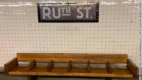 A subtle tribute to Justice Ruth Bader Ginsburg seen in a New York City subway.