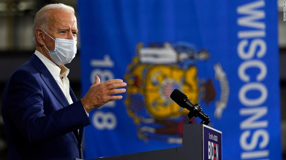 Biden makes class-focused pitch to White voters in Wisconsin