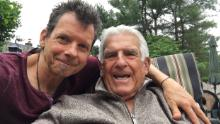 Ed Bettinelli (left) with his 89-year-old father, Ramon Bettinelli, last summer. Ramon died from Covid-19 in April of this year.