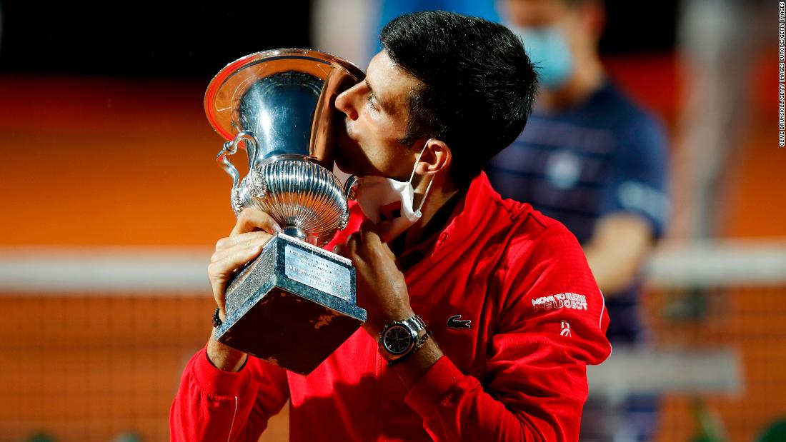 Novak Djokovic Defeats Diego Schwartzman To Win Fifth Italian Open Title And Set Masters Record Cnn