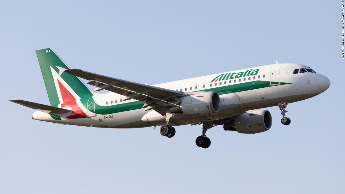 Alitalia airline offering 'Covid-tested' flights