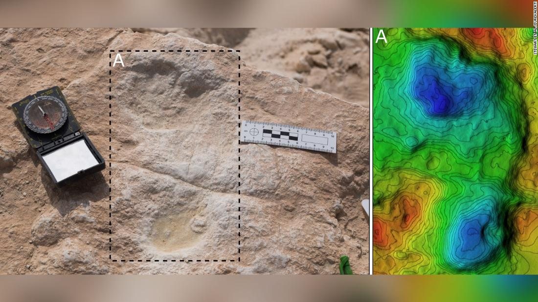 120,000-year-old footprints found in Saudi Arabia -- and they might be human