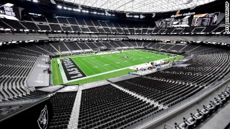 Interior general view of Allegiant Stadium, home of the NFL Las Vegas Raiders football team prior to them facing the New Orleans Saints, Saturday, Sept. 21, 2020 in Las Vegas.(AP Photo/Jeff Bottari)