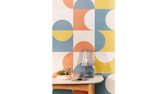 Midcentury Geometric Removable Wallpaper