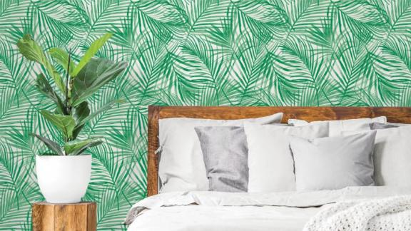 Opalhouse Tropical Peel & Stick Wallpaper Green