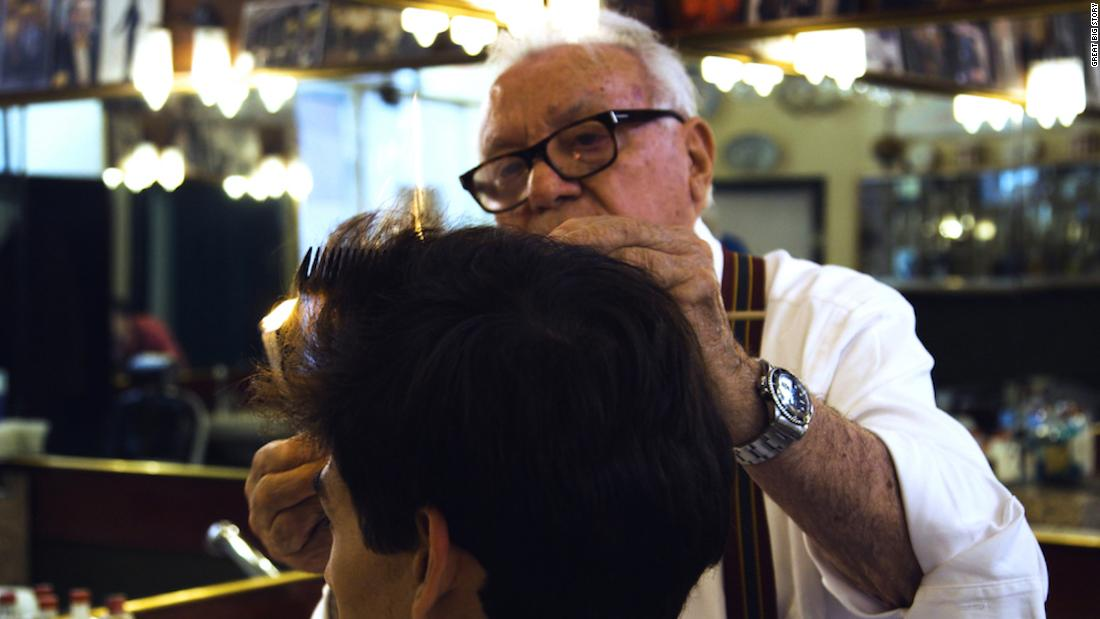 Cutting hair with fire: The last of the Milanese barbers