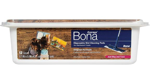 Bona Express Disposable Wet Cleaning Pads for Hardwood Floors
