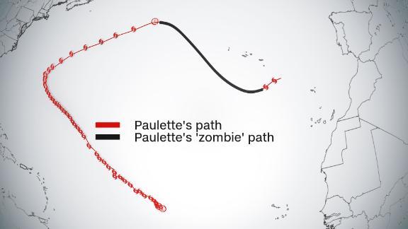 "Tropical Storm Paulette is back as a ""zombie"" storm."